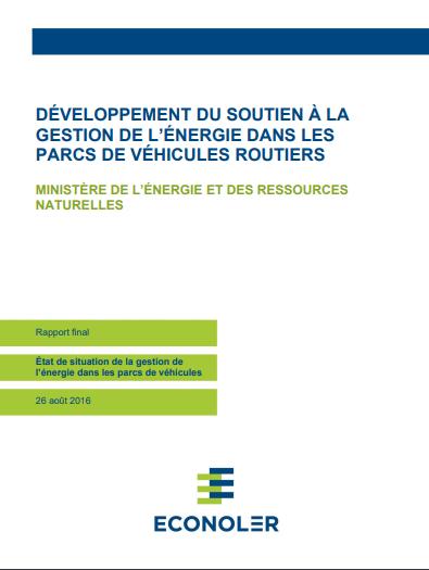 Développement du soutien à la gestion de l'énergie dans les parcs de véhicules routiers