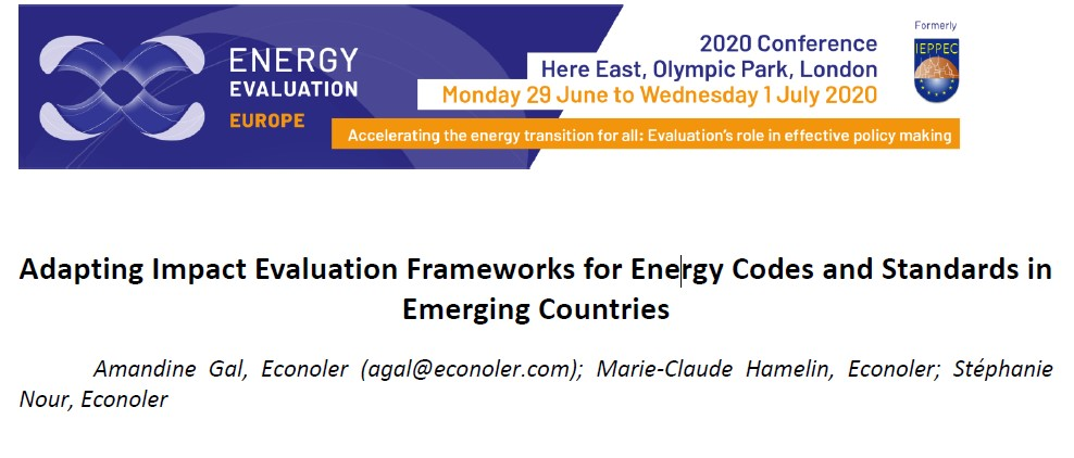 Adapting Impact Evaluation Frameworks for Energy Codes and Standards in Emerging Countries